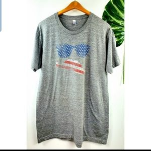 American Apparel U.S.A. graphic shirt L